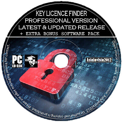 Pro Key Licence Number Finder Recovery For Microsoft Windows XP Vista 8 10 PC CD
