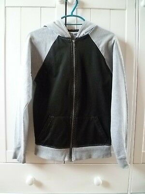 Boys' URBAN OUTLAWS Grey & Black Casual Hooded Sweat Jacket Age 11-12
