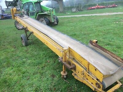 6 metre troughed belt conveyor ,3 phase electric motor,bulk waste material