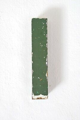 """1930s French Metal Letter I i Shop Sign Painted Green ORIGINAL Industrial 6"""""""