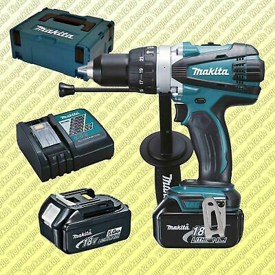 Perceuse Visseuse à Percussion MAKITA DHP458RTJ 18 V Li-ion 2 x 5.0 Ah