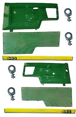 LH/RH Side Panel/Screen/Sticker SET AM128982 AM128983 Fits John Deere 445 UP S/N
