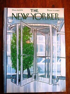 Vintage THE NEW YORKER Dec 20, 1976 Iconic Christmas Tree by SAXON