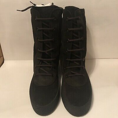 90f1bfa51 DS New Yeezy Crepe Boot Season 4 Oil Black KM3601-104 Size EU 47 US