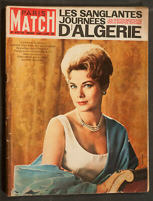 'paris-Match' French Vintage Magazine Grace Kelly Cover 31 March 1962
