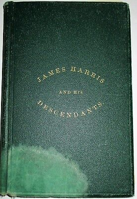 Harris Genealogy History Of James Harris Of New London Conn 1878 Hard Cover