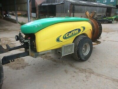Caffini 1500 litre air blast sprayer ,fruit hops apples orchard poultry house