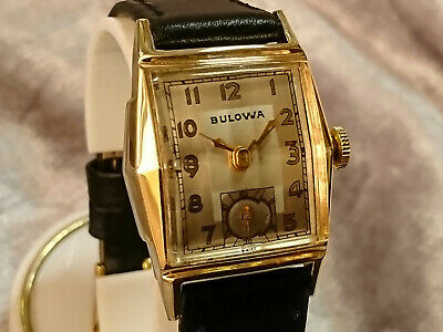 Bulova 1948 'ANDREW' vintage manual wind watch 10BC two tone dial Sophisticated
