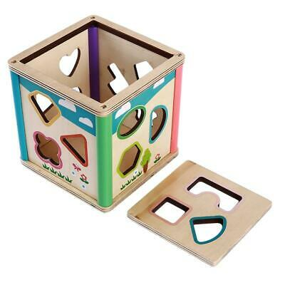 Baby Wooden Learning Geometry Educational Puzzle Development Jigsaw Toys DD