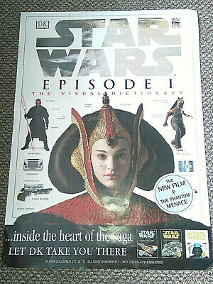 STAR WARS Poster Episode 1 (In Store Promo Poster) Visual Dictionary Lucas 1999