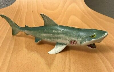 Great White Shark Vintage Rubber Plastic Toy Made in Hong Kong