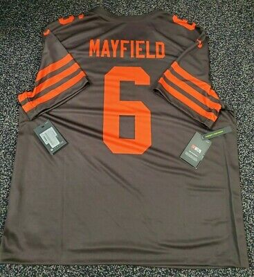 timeless design e34cc 5459a baker mayfield jersey color rush