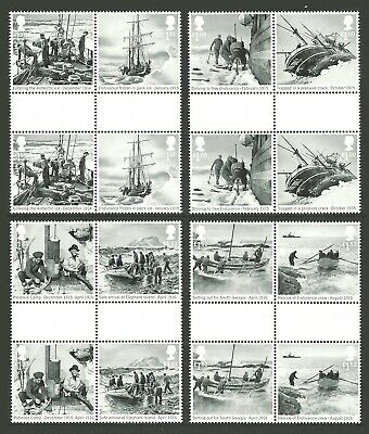 Gb 2016 Ships Explorers Shackleton & The Endurance Expedition Gutter Pairs Mnh