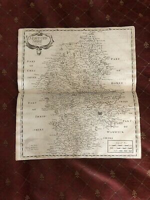 1695 COUNTY of STAFFORDSHIRE Original English Antique Map  Robert Morden RARE