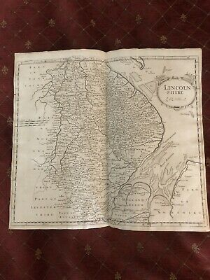 1695 COUNTY of LINCOLNSHIRE Original English Antique Map  Robert Morden RARE