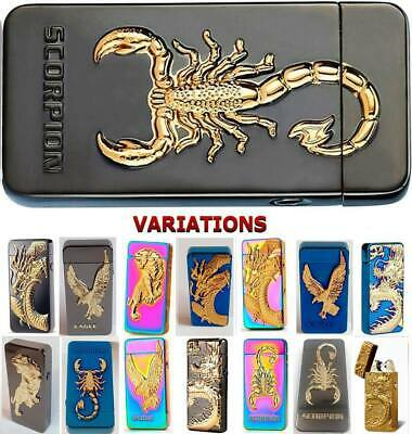 Electric Lighter Double Arc Dragon USB Rechargeable Electronic With Gift Box