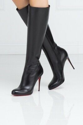 1893c5cd00c CHRISTIAN LOUBOUTIN FIFI Botta Red Sole Knee Boot Size 39 ...