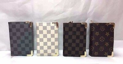New Lady's Check Print Design Purse small/card holder/zip