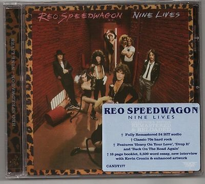 Reo Speedwagon 'nine Lives' Remastered 2013 Rock Candy New Sealed!