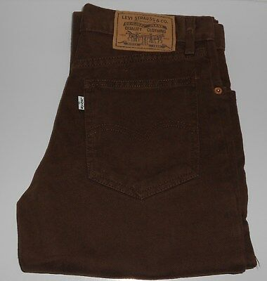 LEVI Levis BOYS Original brown Jeans Size Age 10 Years
