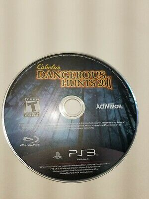 Cabela's Dangerous Hunts 2011 (Sony PlayStation 3, 2010)  Disc Only