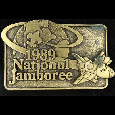 Vtg 1989 Bsa 12th National Scout Jamboree Virginia Boy Scout Brass Belt Buckle