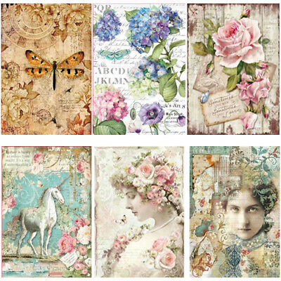 Stamperia Collection 1 - Decoupage Rice Paper A4 Sheet - VARIOUS DESIGNS
