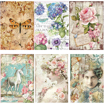 Stamperia - Decoupage Rice Paper A4 Sheet - VARIOUS DESIGNS - SET 1