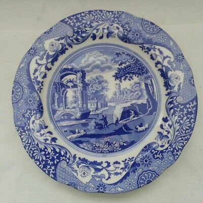 SPODE Blue Italian 27 cm Dinner Plate Made in England Dishwasher Microwave Safe