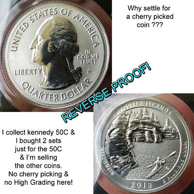 2018 S reverse proof SILVER QUARTER Wisconsin Apostle Island choice top quality