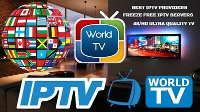 IPTV Subscription 2500 Worldwide Live Channels/VOD on best Rated IPTV Server