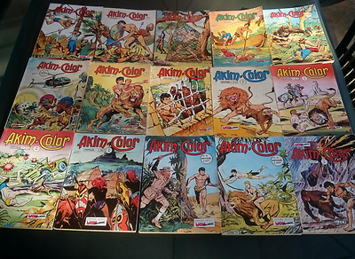 lot de bd AKIM COLOR  - 23 numéros + 3 albums reliés - BE<TBE