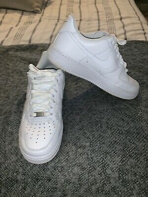 5b0ecb0c2 NIKE AIR FORCE 1 Mens Uk 8 Eu 42.5 White Mid Basketball Boot 82 ...