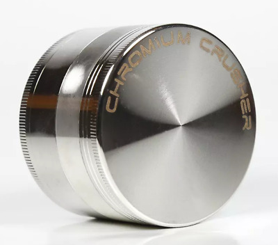 Chromium Crusher 4 Piece Tobacco Spice Herb Grinder - SILVER 40MM