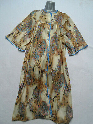 VINTAGE 1970s/80s PAISLEY PATTERN DRESSING GOWN