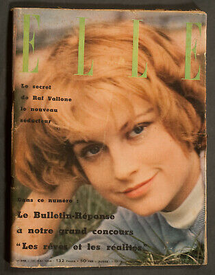 'elle' French Vintage Magazine Mijanou Bardot Cover 26 May 1958