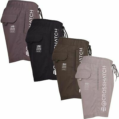 Mens Crosshatch Shorts Drawcord Mesh Lined Designer Beach Casual Swimming Trunks