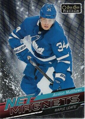 Auston Matthews #NM-15 - 2018-19 O-Pee-Chee Platinum - Net Magnets