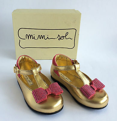Girls' Mi Mi Sol at Andrea Montelpare Gold & Pink Shoes Size 22 (UK 5) - (VS204)