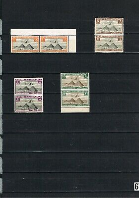 Egypt Stamps #67 King Fuad Aimails In Pairs Unmounted Mint Sg193/198/201/204