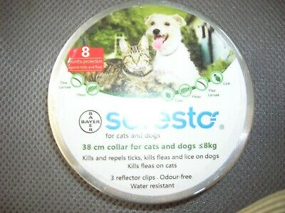 Bayer Seresto For Small Dogs, Under 18 lbs, & Cats, 8 Month Protection, USA Sell