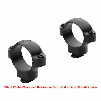 "Matte Black Leupold Rifleman Detachable 1/"" Scope Rings Low Height 56524"