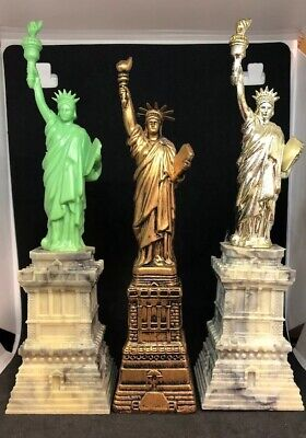 Old Vintage Statue of Liberty Lot of 3