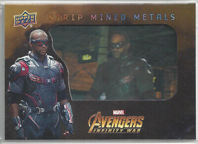 2018 Upper Deck Avengers Infinity War Strip Mined Metals Card #SMM1 Falcon