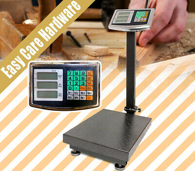 300KG Electronic Platform Scale Commercial Digital Postal Shop Scales Weight NEW