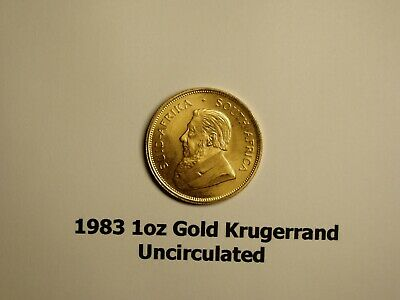 1 oz. Gold South African Krugerrand Coin - 1983