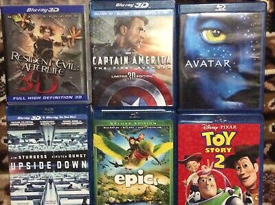 CASES ONLY FOR  3D BLU RAY  DISCS // NO DISCS   ---LOT 10 pcs