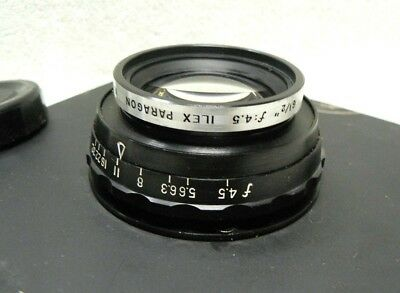 """ILEX Paragon 6 1/2 Inch F4.5 Large Format Camera Lens Mounted on 6 x 6"""" Board"""