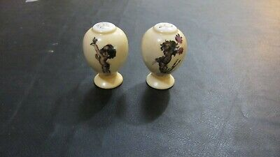 vintage salt and pepper shakers BROWNIE DOWNING RETRO KITCHEN KITSCH
