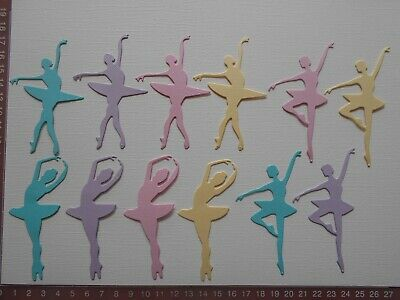 Die Cuts - Ballerinas x 12 Children's Birthday Girl Dancers Card toppers
